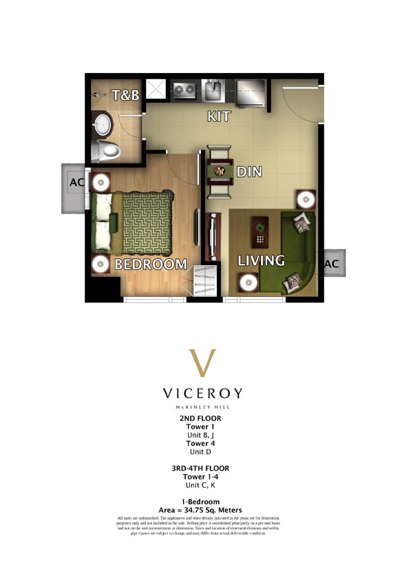 One Bedroom of Viceroy