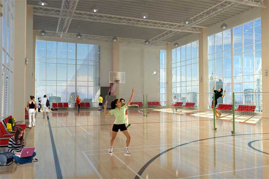 Badminton and Basketball Court in Uptown