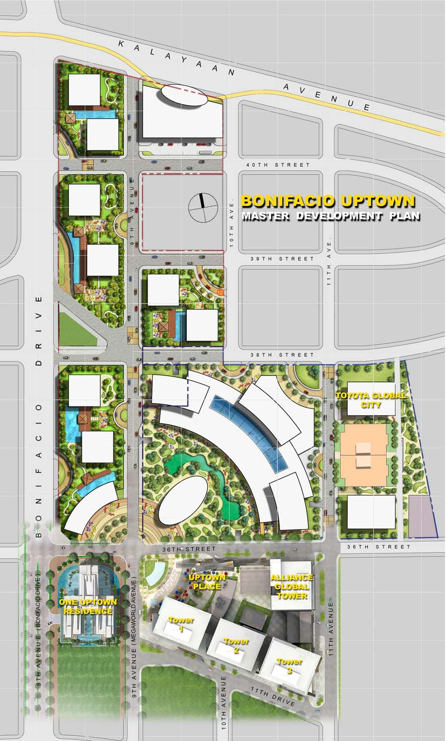 Site Development Plan of BONIFACIO UPTOWN